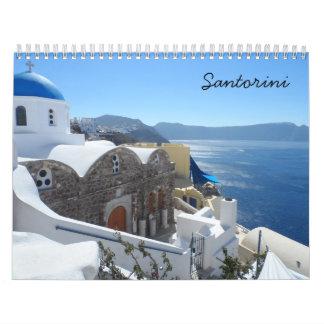 Santorini 2019 calendar