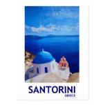 Santorini azul, Grecia - visión desde Oia Tarjetas Postales