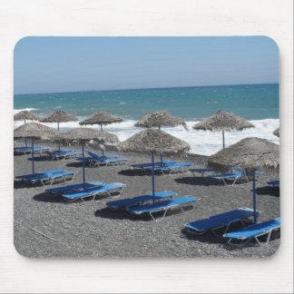 Santorini Beach, Greece Mouse Pad