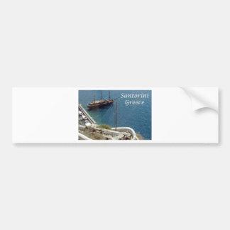 santorini bumper sticker