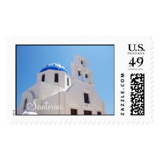 Santorini cathedral Greece Postage