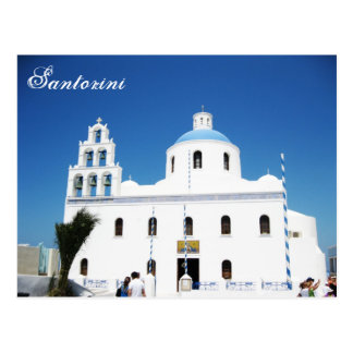 Santorini Cathedral square Post Card