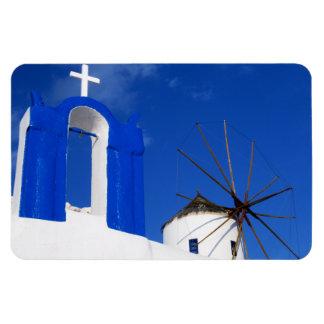 Santorini Church and Windmill Fridge Magnet