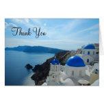 Santorini Church Domes Stationery Note Card