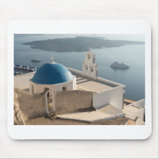 Santorini Church, Greece Mouse Pad