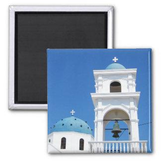 Santorini Church Magnet