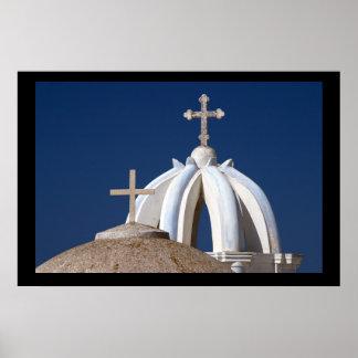 Santorini Churches. Poster by cARTerART