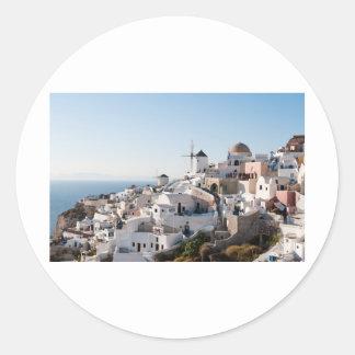 Santorini Classic Round Sticker
