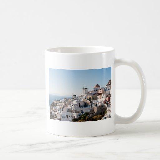 Santorini Classic White Coffee Mug