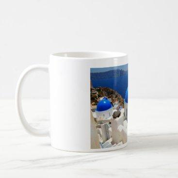 Coffee Themed Santorini coffee mug