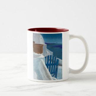 Santorini Gate Two-Tone Coffee Mug