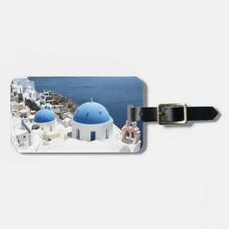 Santorini Grecia Etiquetas Bolsa