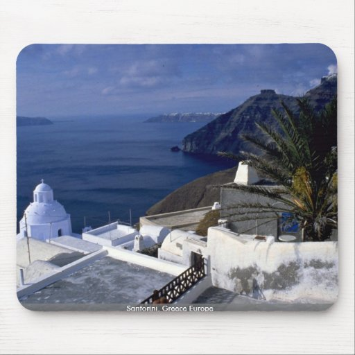 Santorini, Grecia Europa Tapetes De Raton
