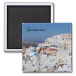 Santorini, Grecia Imán Cuadrado