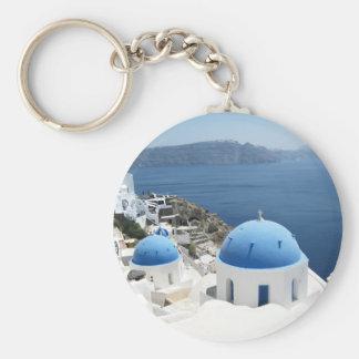 Santorini Grecia Llavero Personalizado