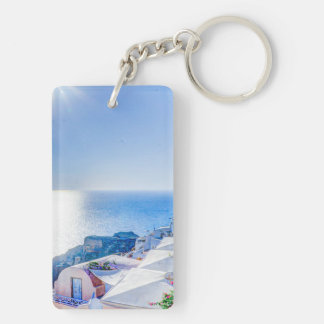Santorini Grecia Llavero