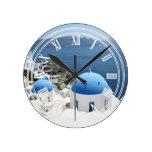 Santorini Grecia Relojes De Pared
