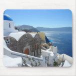 Santorini, Grecia Tapetes De Raton