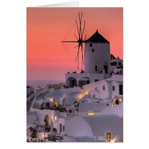 Santorini, Grecia Tarjeta De Felicitación