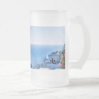 Santorini Grecia Tazas