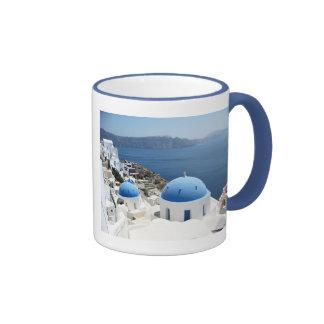Santorini Grecia Taza De Dos Colores