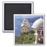 Santorini, Greece 2 Inch Square Magnet