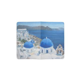 Santorini Greece art Pocket Moleskine Notebook