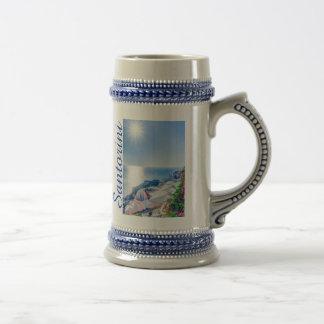 Santorini Greece Beer Stein