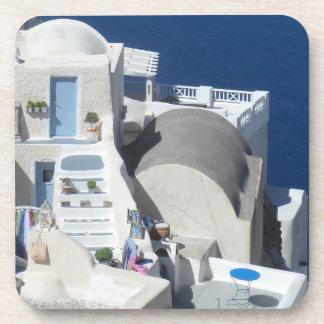 Santorini, Greece Beverage Coaster