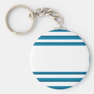 Santorini Greece Blue Design Keychain