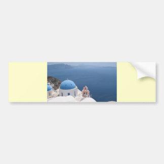 Santorini Greece Bumper Sticker