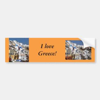 Santorini, Greece Bumper Sticker