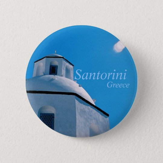 Santorini, Greece Button