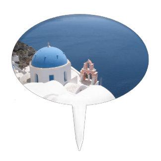 Santorini Greece Cake Topper
