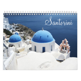 Santorini Greece Calendar