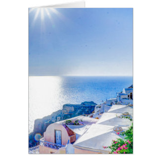 Santorini Greece Stationery Note Card