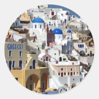 Santorini, Greece Classic Round Sticker