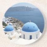 Santorini Greece Coaster
