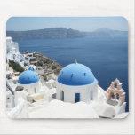 Santorini Greece Mouse Pads