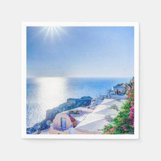 Santorini Greece Paper Napkin