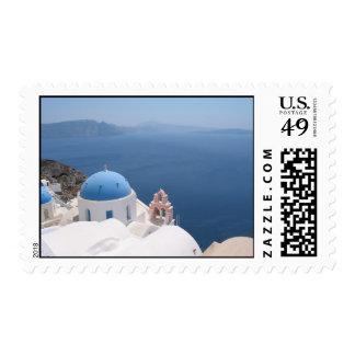 Santorini Greece Postage Stamp