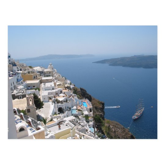 Santorini Greece Postcard