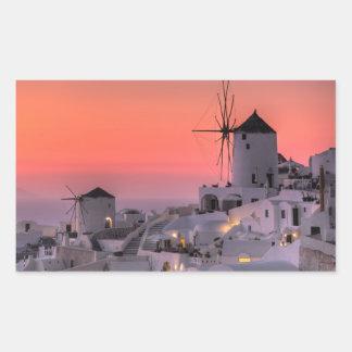 Santorini, Greece Rectangular Sticker