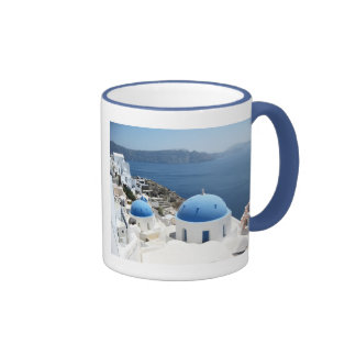 Santorini Greece Ringer Mug