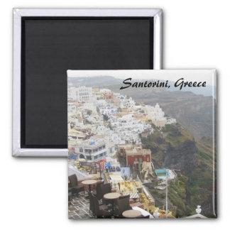 Santorini Greece Square Magnet