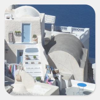 Santorini, Greece Square Sticker