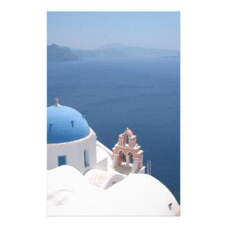 Santorini Greece Customised Stationery