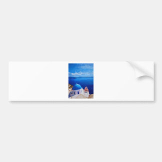 Santorini, Greece - View from Oia Bumper Sticker