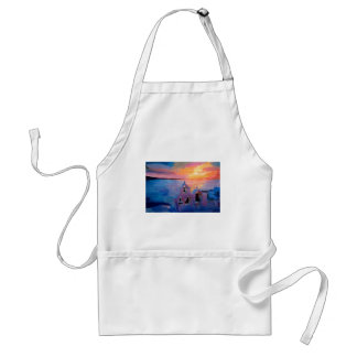 Santorini Greece View from Oia during Sunset Adult Apron