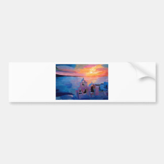 Santorini Greece View from Oia during Sunset Bumper Sticker